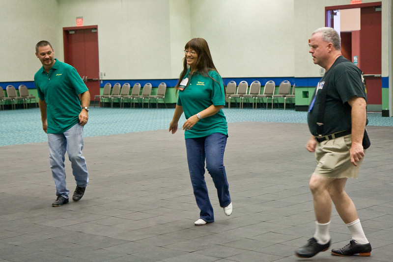 Stephen, Wilmya, and Brendan at the National Square Dance Convention in Louisville, Kentucky