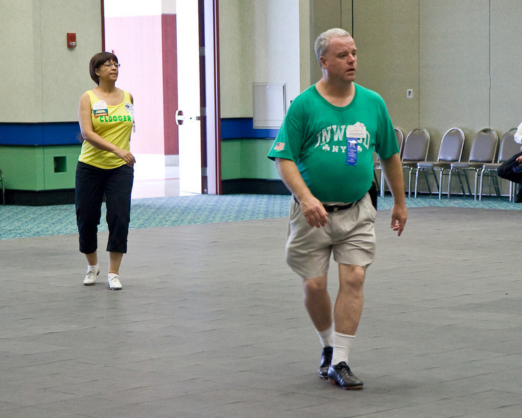 Wilmya and Brendan clogging at the National Square Dance Convention in Louisville, Kentucky