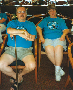Chet and Maggie on the Caribbean cruise, 1995.