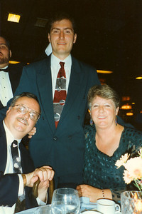 Ed, Chet, and Maggie on the Caribbean cruise, 1995.