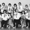 The Diablo Mountain Cloggers in May, 1975. BACK ROW: Shirley, Tom, Bunny, Scott, Violet, OJ (Oscar), Wanda, Dave. FRONT ROW: Maryann (?), Al, Lois, Bud, Karen, Charles