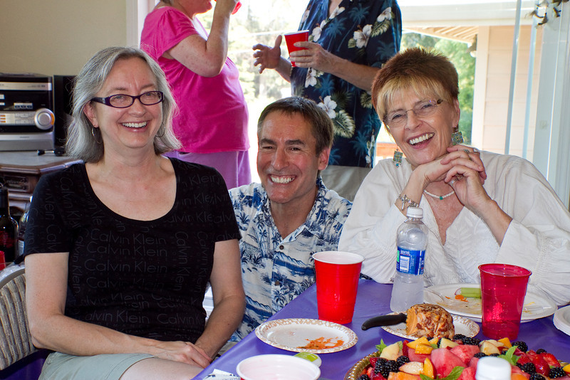 Sheila, Geoff, and Bonni at Fabien & Boris' farewell party