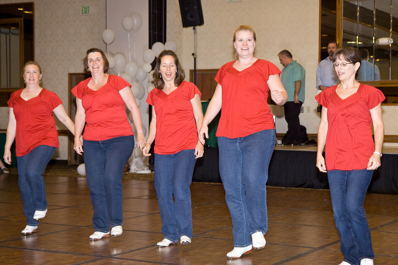 Thunderfoot Cloggers performing at NCCA