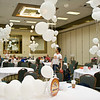 Tables and balloons at NCCA Convention