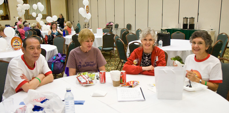 Carl, Sue, Sherri, and Stathie on Saturday at NCCA Convention