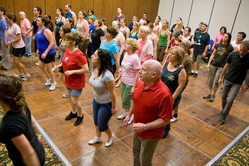 Dancers at Matt Pearson's Saturday workshop at NCCA