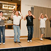 Missy, David, Matt, Eric, and Barry leading party dances late Saturday night at NCCA Convention