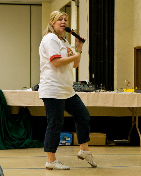 Colleen Pearson teaching Saturday morning