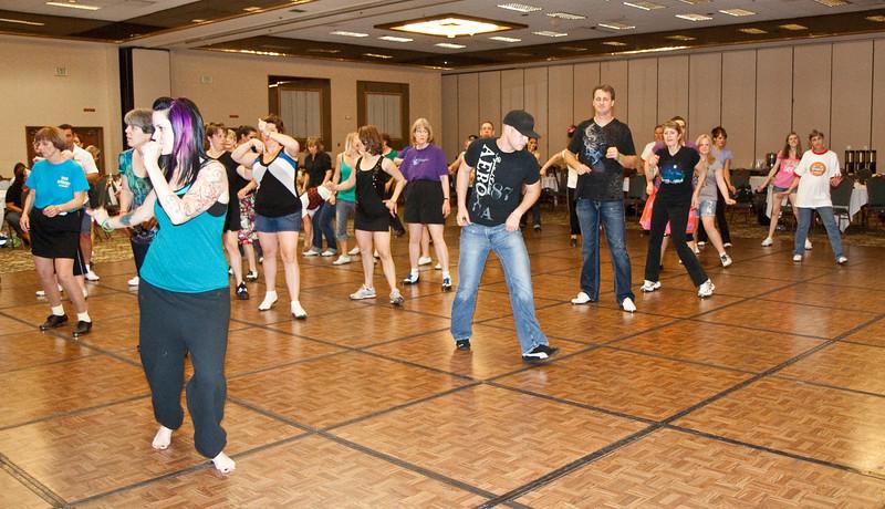 Late Saturday fun dancing at NCCA Convention