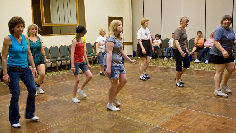 Dancers at Saturday workshops