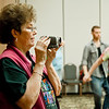 Anne Mills video recording a workshop on Sunday at NCCA Convention