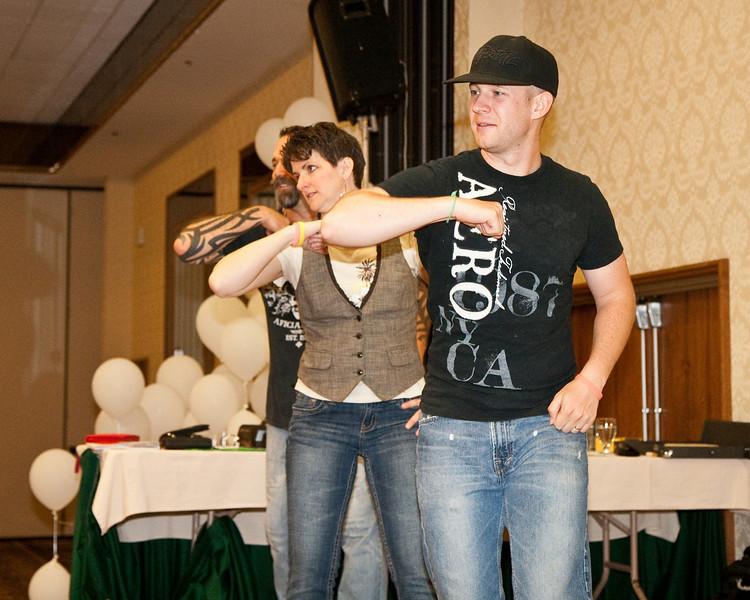 Dancing Hokey Pokey late Saturday night at NCCA Convention