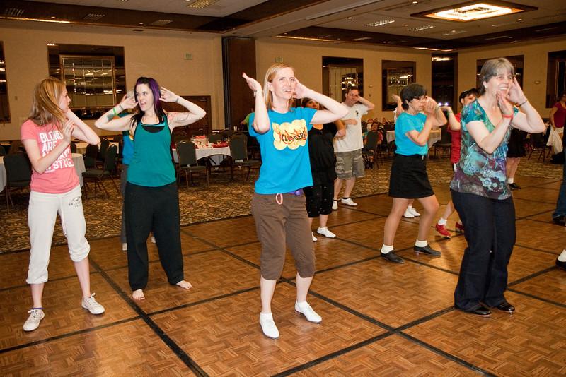 Dancing the Macarena Saturday night at NCCA Convention