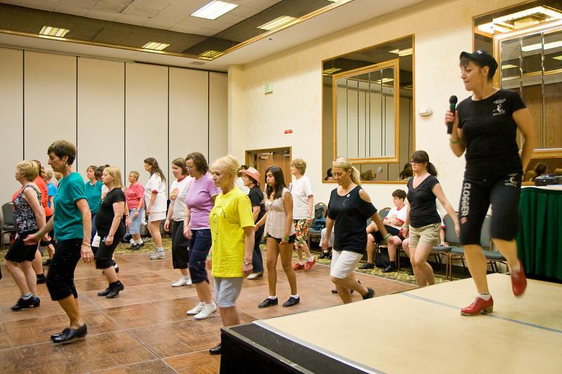 "Darolyn Pchajek teaching ""Rock This Town"" on Saturday at NCCA"