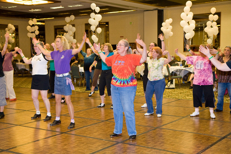 Dancers doing Zumba on Friday night at NCCA convention