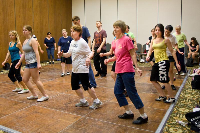 Dancers doing Anne Mills' Saturday workshop at NCCA