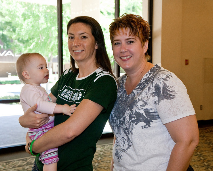 Michelle Bice with her daughter and Angel Smiley
