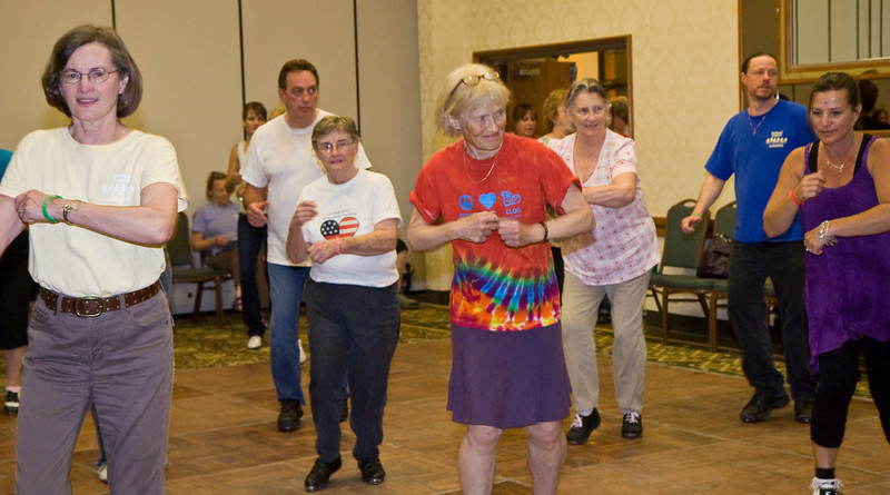 Dancers at Friday night workshops, NCCA Convention