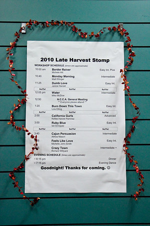 Program at Late Harvest Stomp