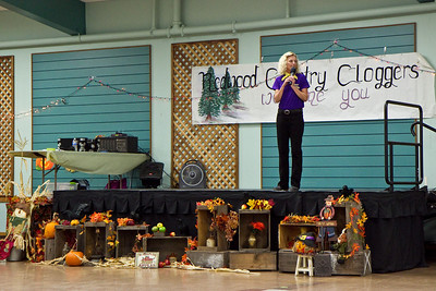 Michele on stage at Late Harvest Stomp