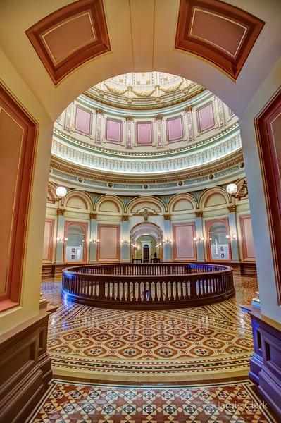 Inside State Captiol Building. Sacramento, CA