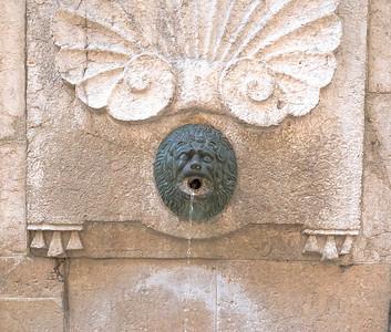 Ancient Bronze  Water Spout