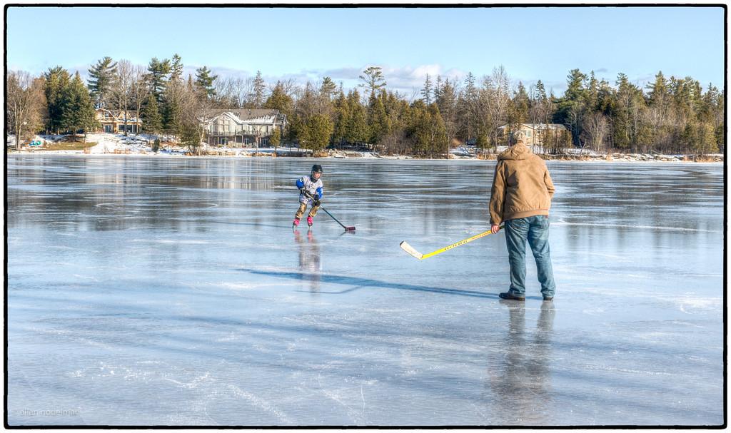Hockey Practice on Constance Lake