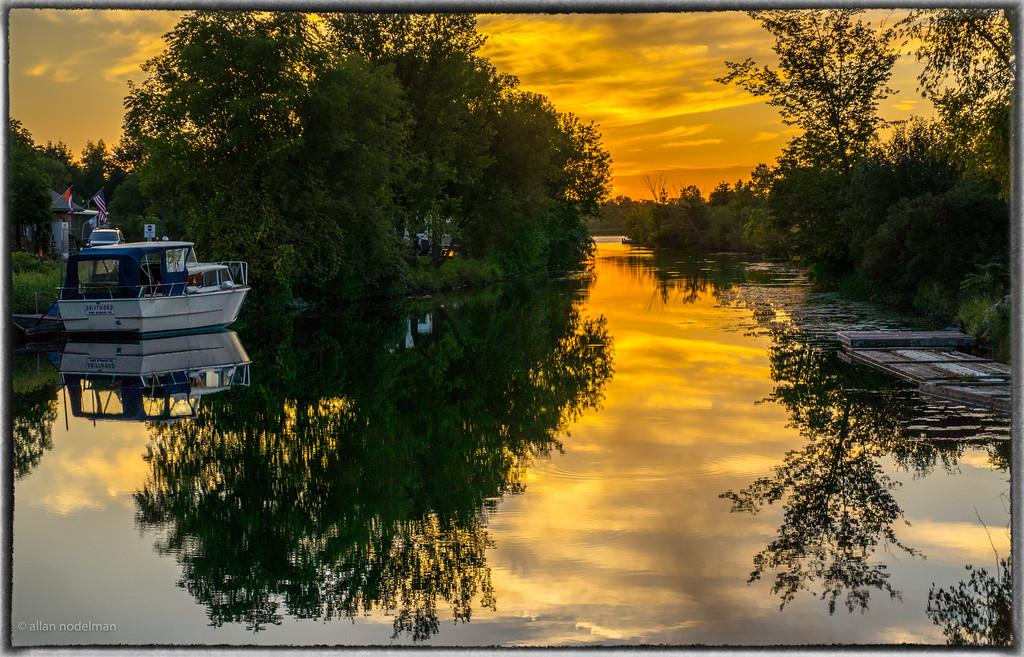 Sunset at the Locks in  Merrickville Ontario
