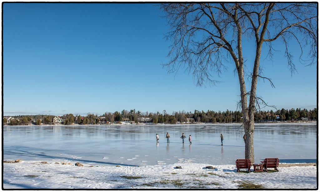Sliding on Constance Lake