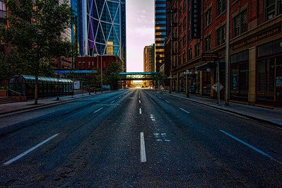 Downtown Calgary after the flood