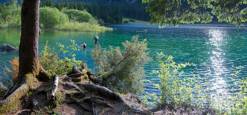 Secondo lago di Fusine (scorcio) - foto n° 060614-489129