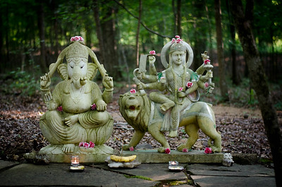 Lord Ganesh and Durga