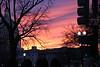 Beautiful sky as the sun set and temperatures plummeted.