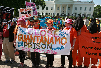 Once again we were back at the White House to demand Obama live up to his promise to shut down of Guantanamo.