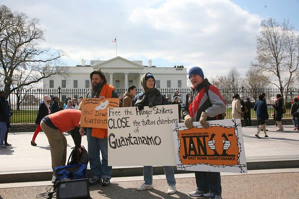 White House Peace Vigil For Guantanamo Inmates Hunger Strike 3/22/13