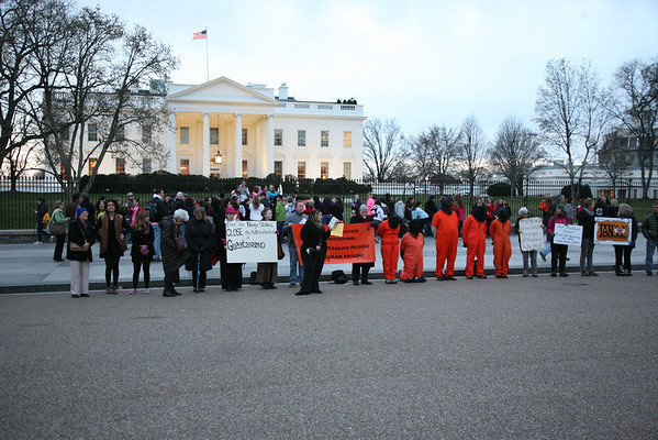 White House Vigil for Guantánamo Inmates Hunger Strike March 20, 2013