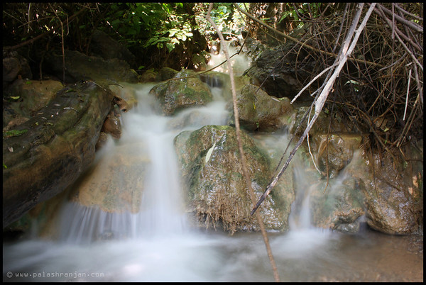 A stream of Neer Falls on the way uphill  NEER FALLS, RISHIKESH, UTTRANCHAL, INDIA | OCT'2013