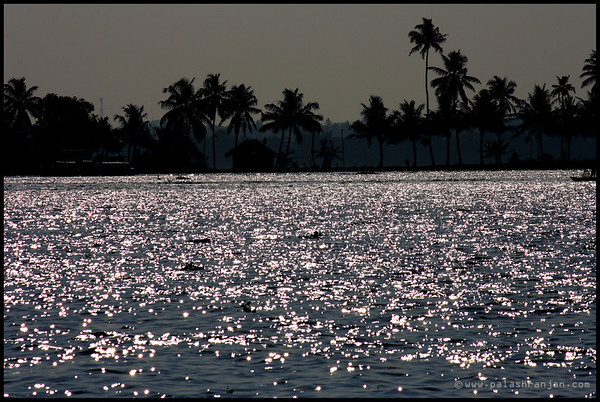 A sunny afternoon at backwaters of Alleppey  ALLEPPEY | KERALA | INDIA, DEC 2013