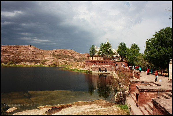A view of the Jaswant Thada (a tourist place in Jodhpur)