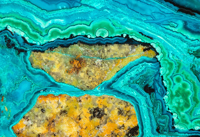 Chrysocolla and Malachite