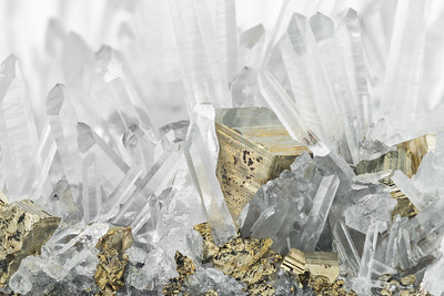 Pyrite and Quartz