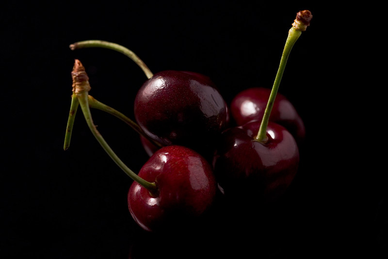 Four Cherries Closeup