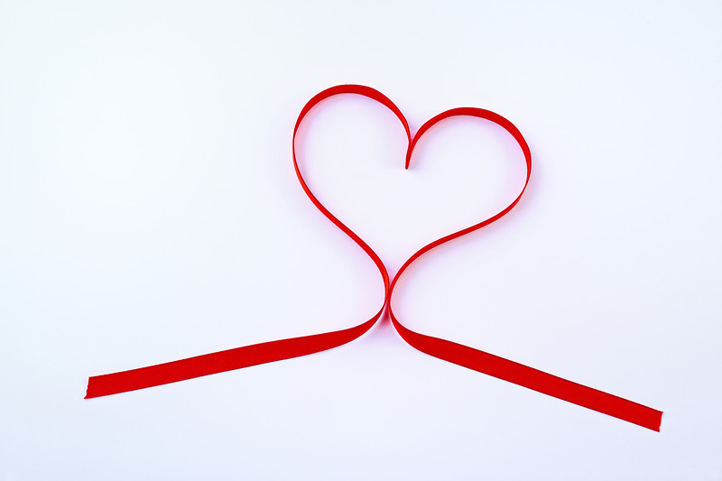 Ribbon Valentine's Day Heart