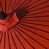 Red Umbrella Closeup