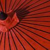 Red Umbrella Closeup