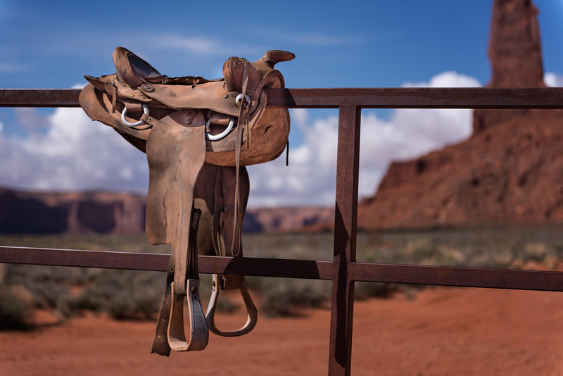 Saddle in Monumnet Valley, Arizona