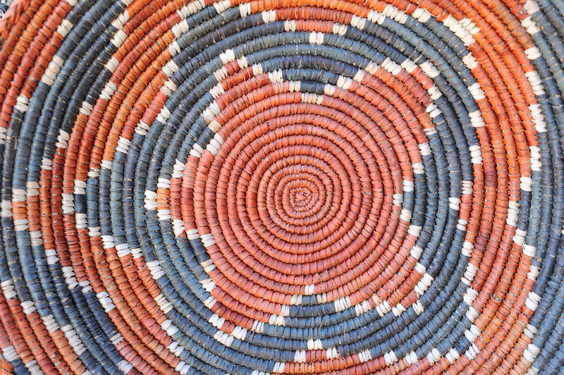 Woven basket, Sante Fe, New Mexico