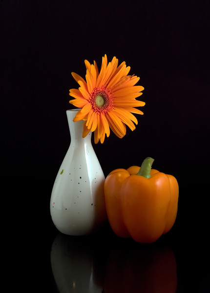 Still Life with Orange Pepper