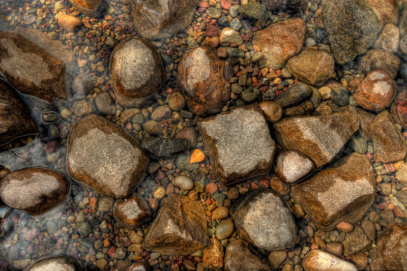 Colorful Rocks in a Stream in Grand Teton National Park, Wyoming