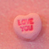 Closeup of Valentine Candy Heart